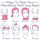 Multiway Bands ~ Powder MUL8 - Leaf Denim Multiway Band