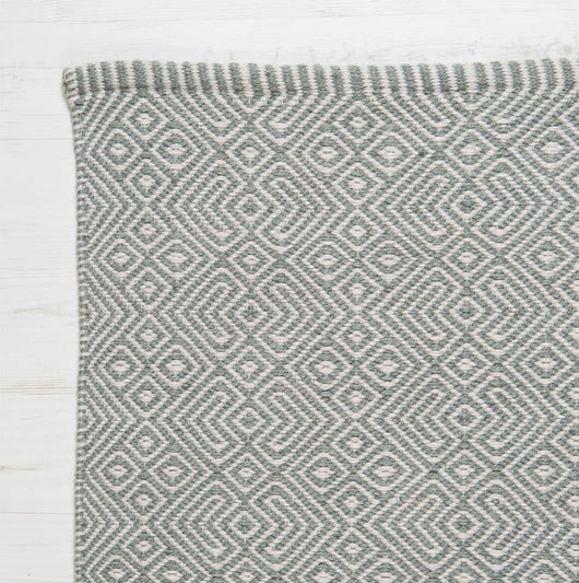 Close up Rug ~ Provence range ~ Dove Grey ~ Weaver Green 100% recycled
