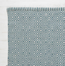 Close up Rug ~ Provence range ~ Teal ~ Weaver Green 100% recycled