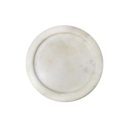 Candle holder ~ Marble candle disk holder - white 7.6cm