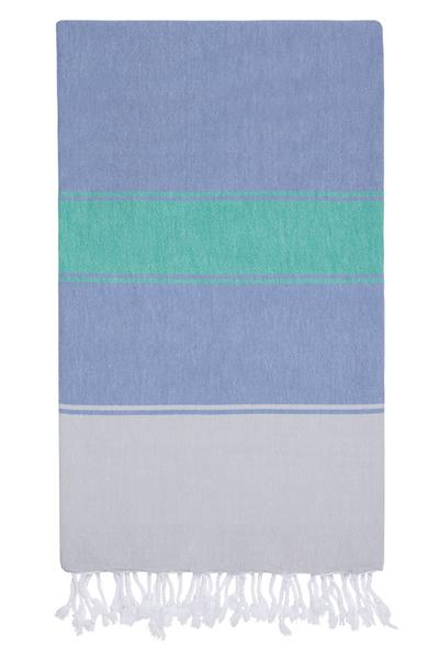 Towel ~ TLP09 Talia towel & bag Hamam Denim/Caribbean lightweight and compact pestemal