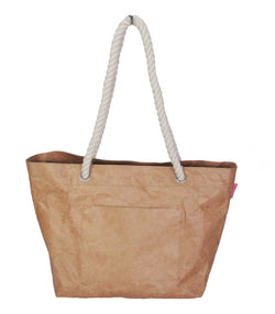 Bag ~ Rope handle tote bags in Original Brown - waterproof and lightweight