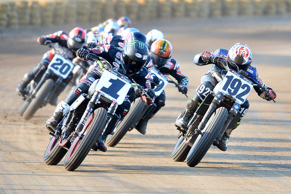 Jared Mees leads the pack in Springfield Mile
