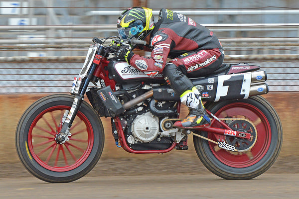 Jared Mees on Indian's FTR750 flat tracker