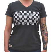 Chequerboard Ace Cafe London (Womens) T-Shirt
