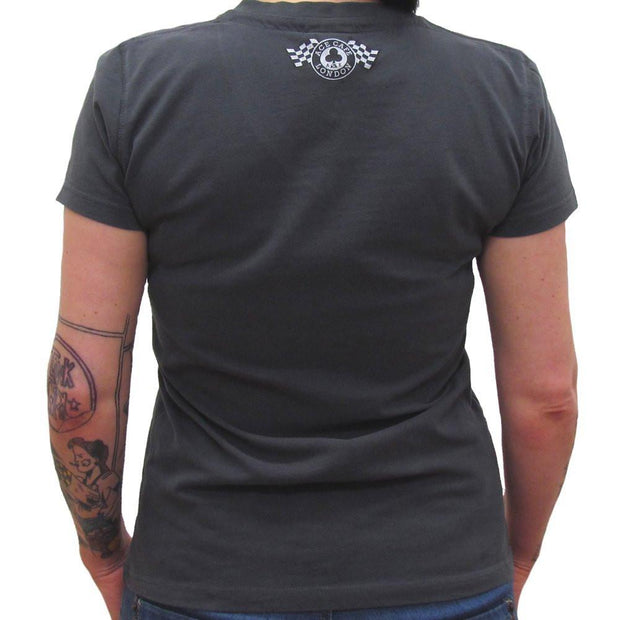 Ace Plate (Womens) Graphite V-Neck T-Shirt