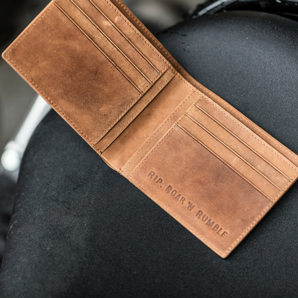 Mean Bird Motorcycles Leather Wallets