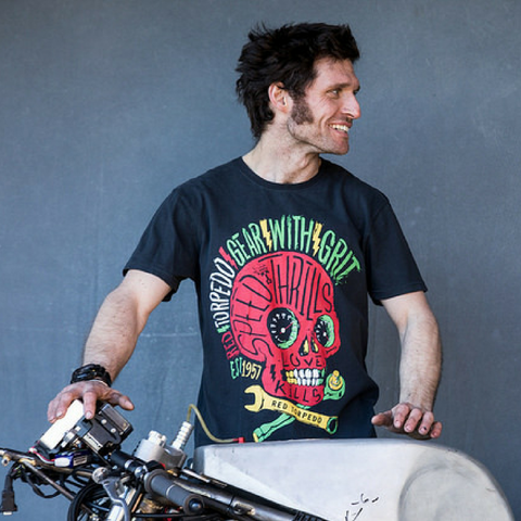 Guy Martin Spannerswarm (Mens) Anthracite T-Shirt