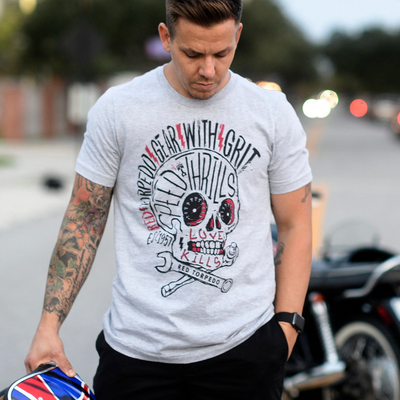 Red Torpedo Speed Punk (Mens) Grey T-Shirt