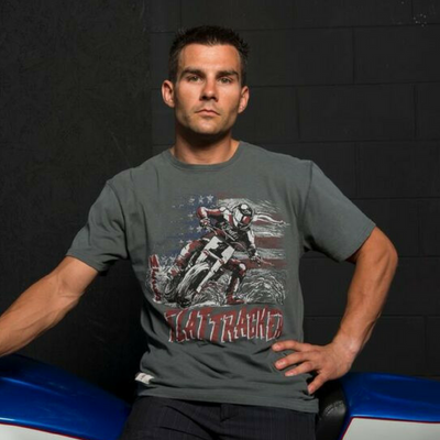 Jared Mees 'Flat Tracker' (Mens) T-Shirt