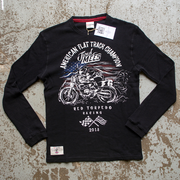 Jared Mees 'Champion' (Mens) Black Waffle Top
