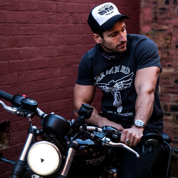 Mean Bird Motorcycles Trucker Cap