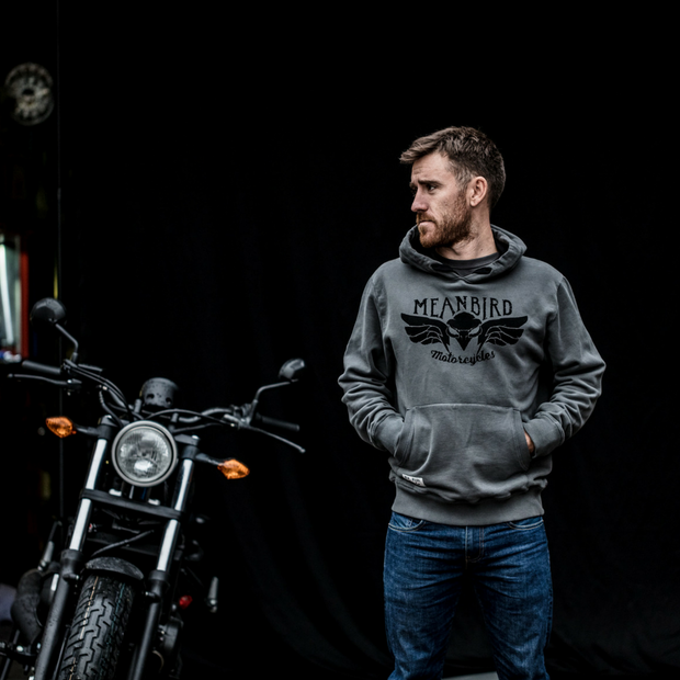 Mean Bird Motorcycles (Mens) Hoodie