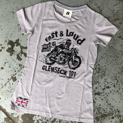 Ton Up Clothing Glemseck Fast & Loud (Womens) Grey T-Shirt