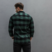V Twin (Mens) Racing Green Check Shirt