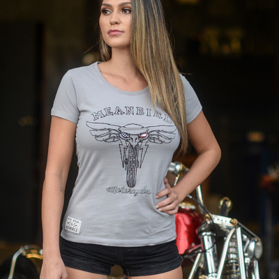 145 MBM Rumble (Womens) Grey T-Shirt