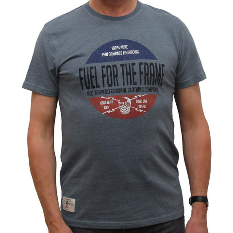 Fuel For The Frame (Mens) Steel Blue T-Shirt