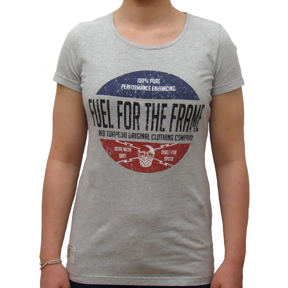 Fuel for the Frame (Womens) Grey Marle T-Shirt