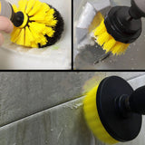 Drill Scrubber Brush Attachment Kit 3PCS