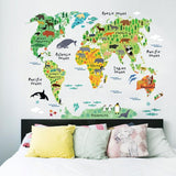 Little World Map Wall Sticker