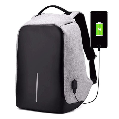 SecureTech Anti-theft Backpack Gray