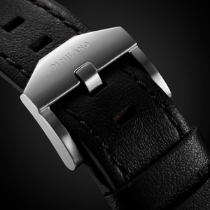 Ultra Thin Leather 38 mm - Silver/Black