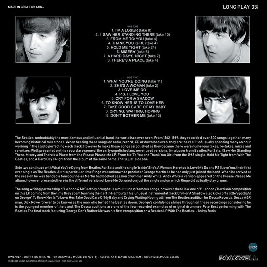 Dont Bother Me Four Things You Should >> The Beatles Don T Bother Me Limited Edition Coloured Vinyl