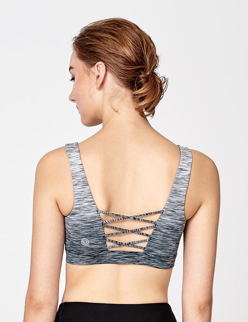 easyoga LA-VEDA Limber Up Bra - D59 Layer Gray Stripe