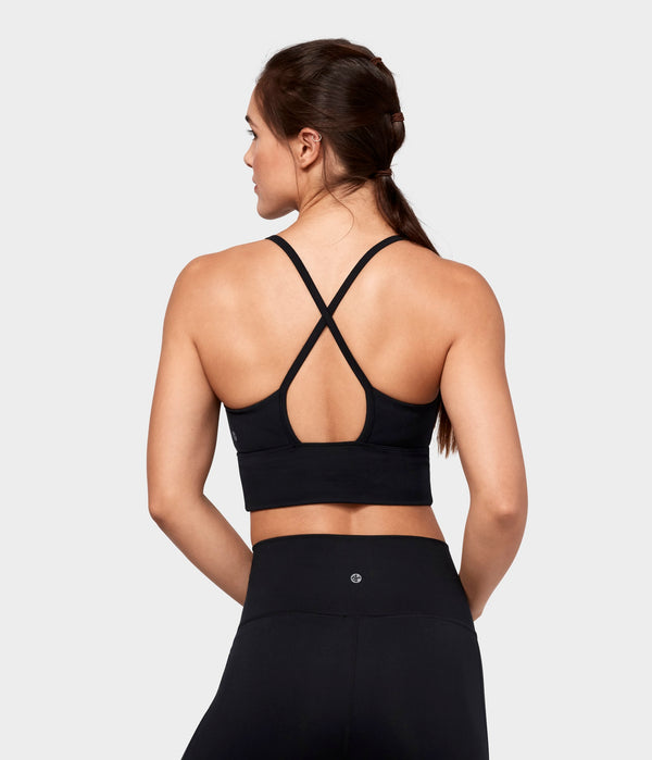 Manduka Apparel - Women's Darted Bra - Black