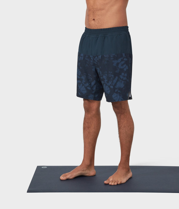 Manduka Apparel - Men's PRO Short - Classic Rise Colorblocked W/Liner - Dark Sapphire Combo