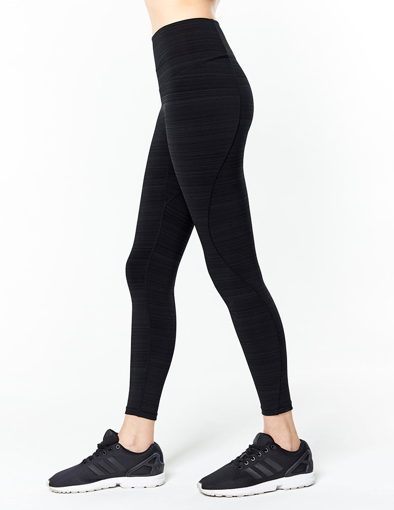 easyoga Lespiro On- Soothing Core Tights - D50 Black Gray Stripe