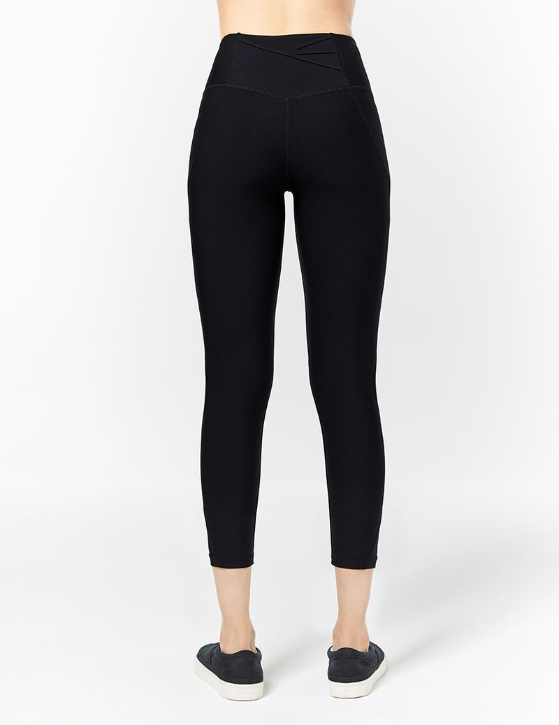 easyoga LA-VEDA All Round Cropped Tights - L1 Black