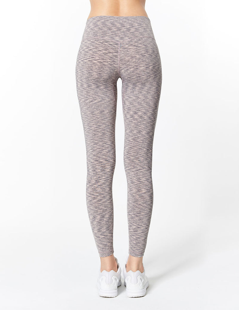 easyoga Lespiro Glossy Slim Tights1 - D62 Gray Pink Strip