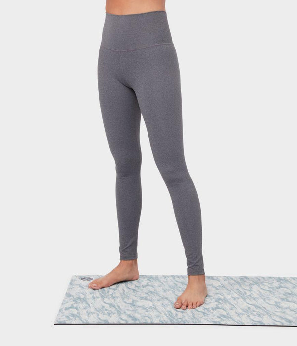 Manduka Apparel - Women's Essence Legging - Heathered Grey