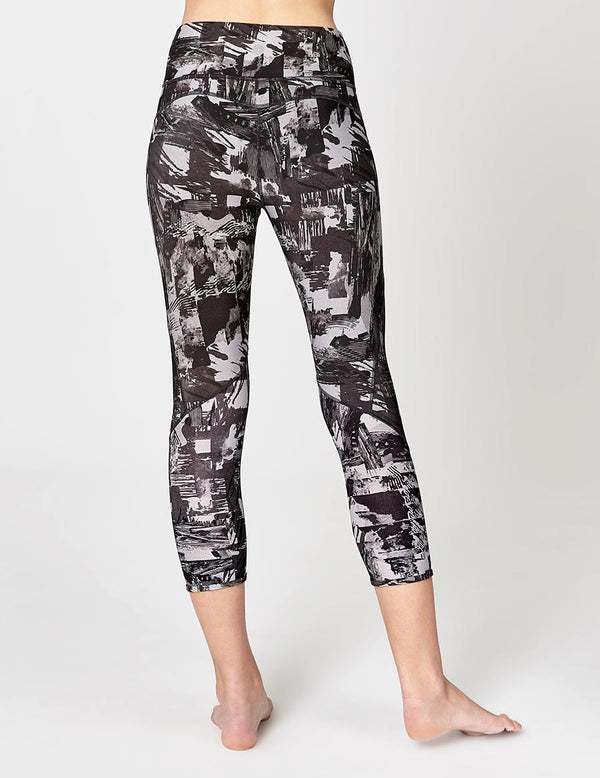 easyoga LA-VEDA Mover Cropped Tights - FA1 Montage Gray