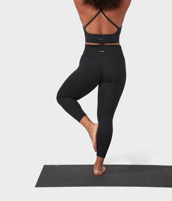 Manduka Apparel - Women's Performance Legging - High Rise W/Media Pocket - Black