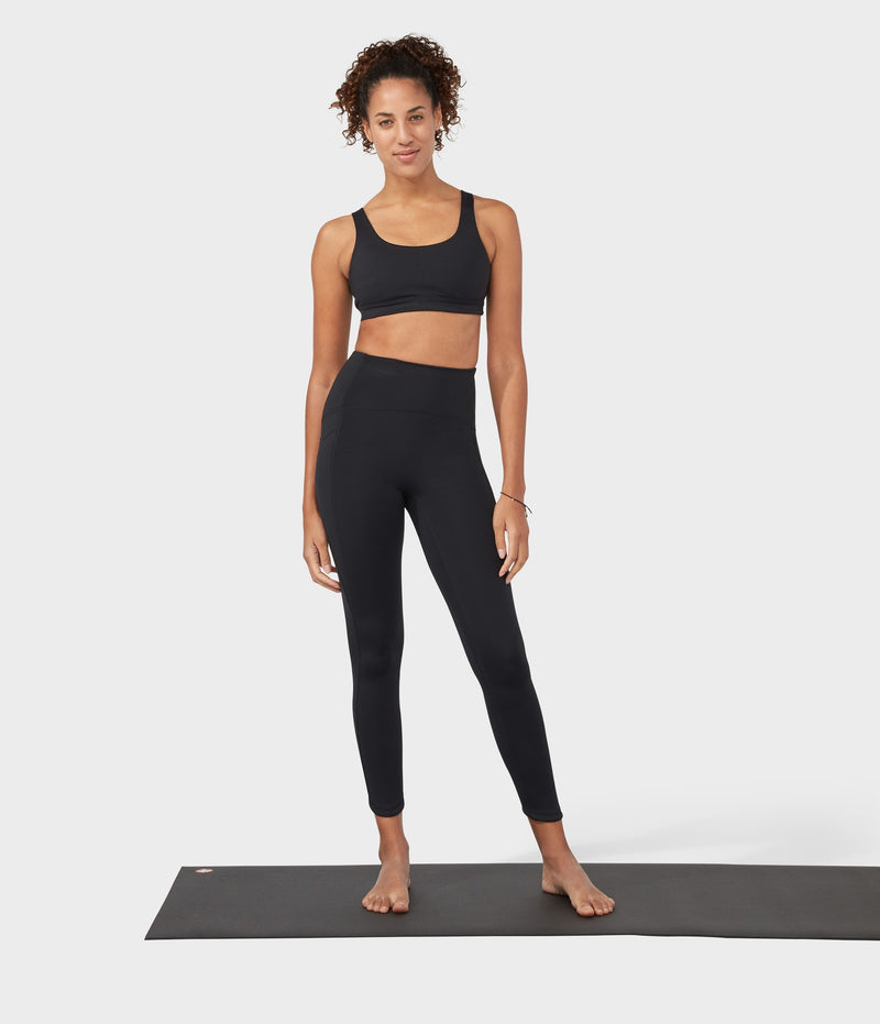 Manduka Apparel - Women's PRO Legging - High Rise 7/8 W/Pocket - Black