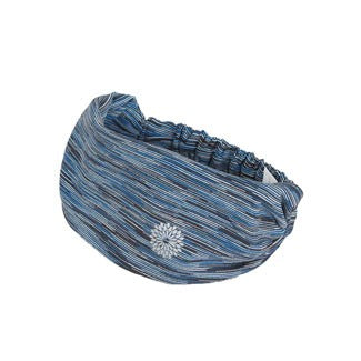 easyoga Lespiro Broad Headband1 306 - D31 Blue Gray Stripe
