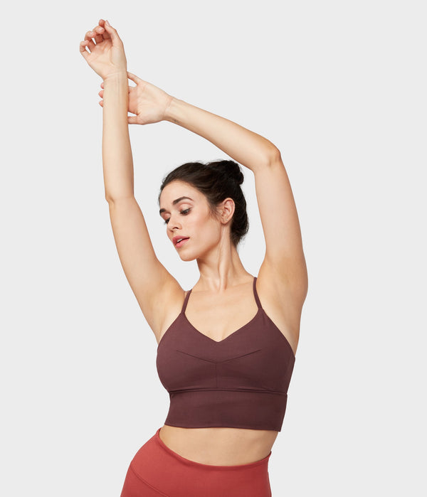 Manduka Apparel - Women's Darted Bra - Dark Chestnut
