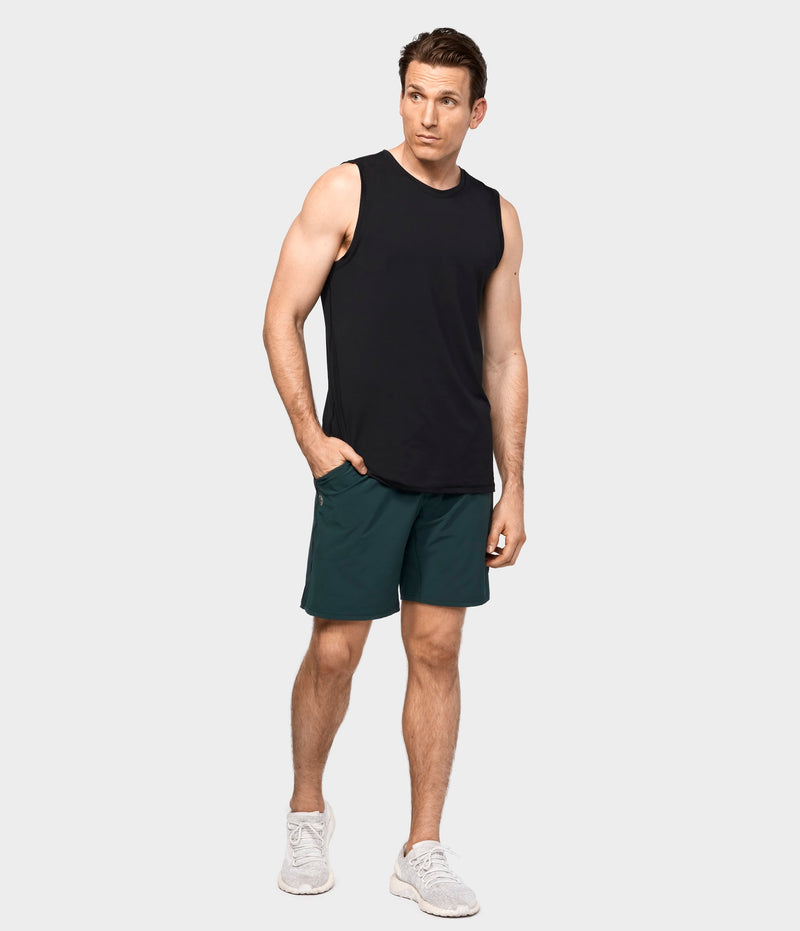 Manduka Apparel - Men's Cross Train Tank 01 - Black