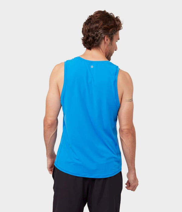 Manduka Apparel - Men's Tech Tank - Be Bold Blue