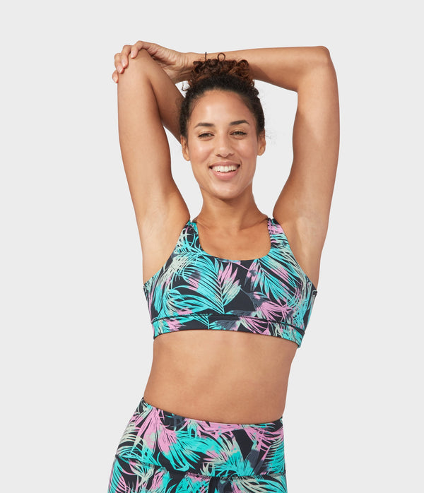 Manduka Apparel - Women's PRO Bra - Double Strap - Tropics - Black