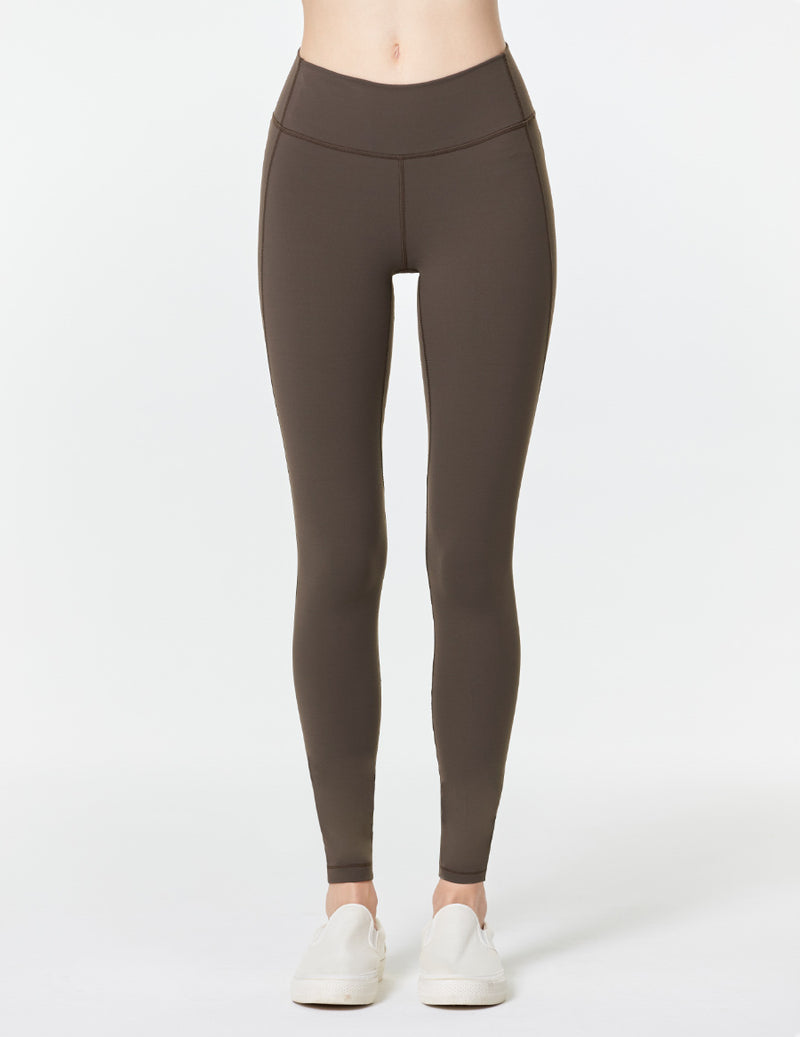 easyoga LA-VEDA Eveness Core Leggings - C02 Chocolate Brown