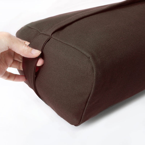 easyoga Premium Dual Handle Yoga Bolster - C02 Chocolate Brown