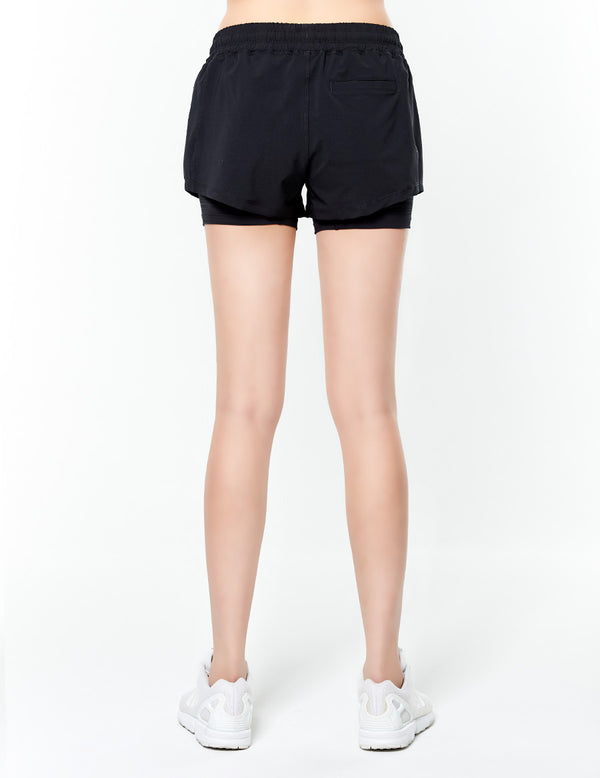 easyoga Lespiro Blitz Run Shorts - L1 Black