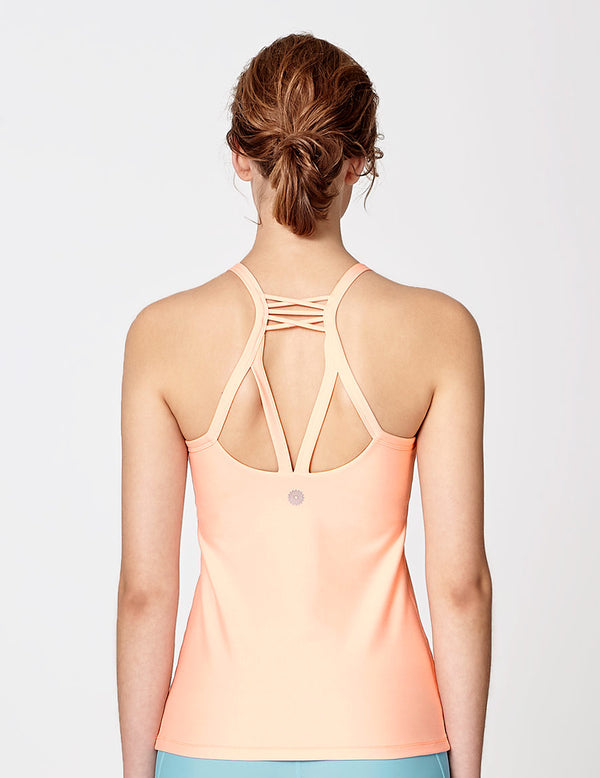 easyoga LA-VEDA Equil Tank - R19 Pink Cream
