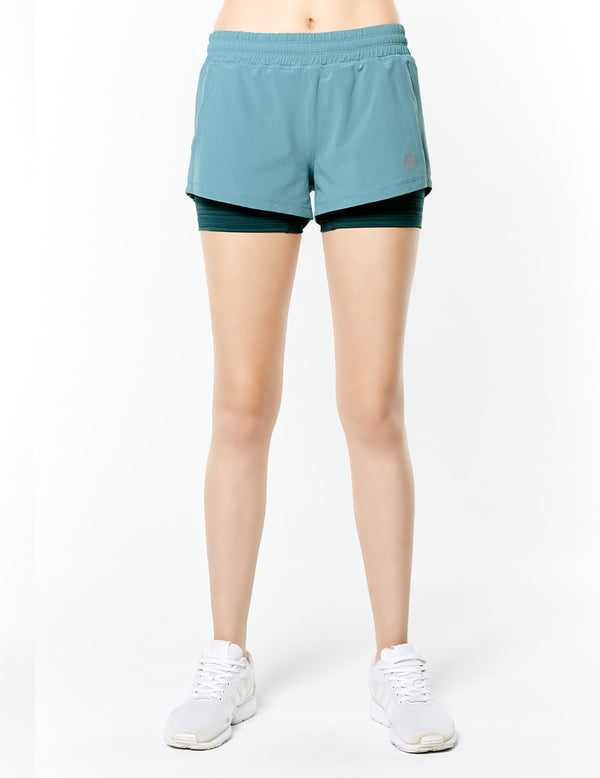easyoga Lespiro Blitz Run Shorts - G29 Pale Green