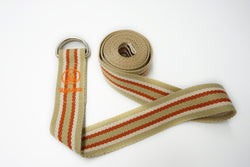 YogaAum AumStrap - Beige with White/Orange Line