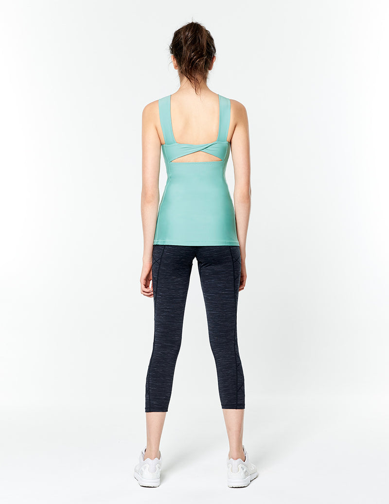 easyoga Lespiro Clamber Cropped Tights - L1 Black