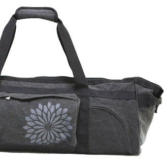 easyoga Premium Carry-all Canvas Yoga Bag- Dots - L1 Black